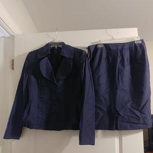 Nine West blue stripe suit